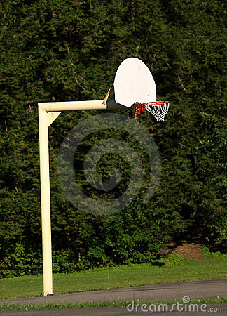 Basketball hoop and pole