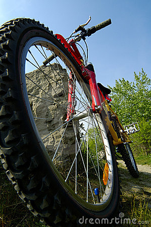 Mountain Biking Low Angle