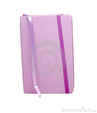 Purple Notebook with Bookmark