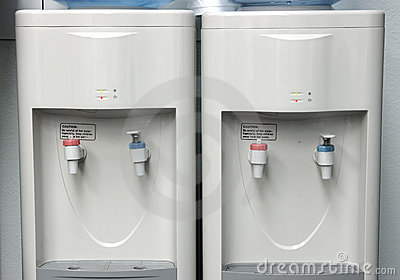 Two water coolers.