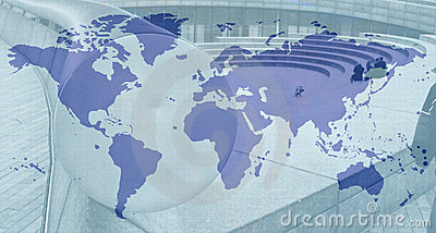 Blue and grey world map