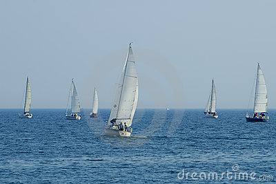 Group Of Sailboats