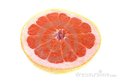 Isolated Pink Grapefruit