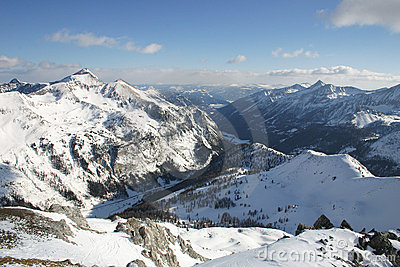 Austria - snowy mountains