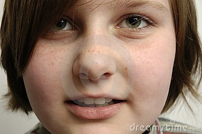 Young girl's face