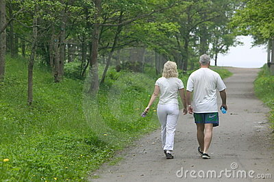 Couple in park