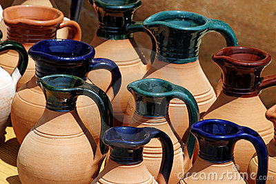 Painted Clay Jugs