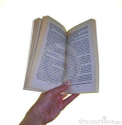 Holding a book open