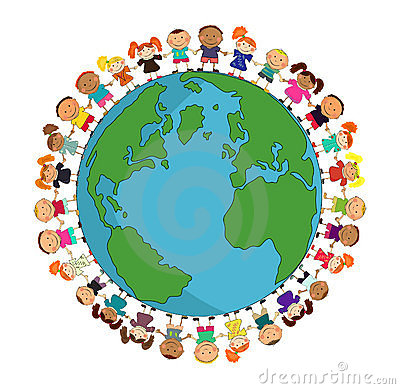 Image result for earth with people around cartoon