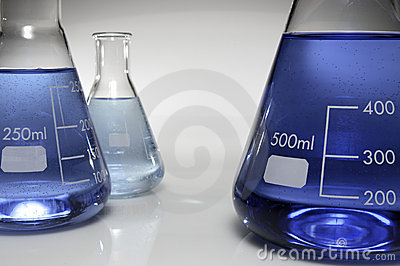 Three conical flasks
