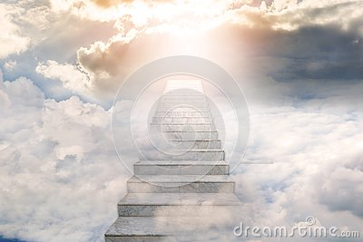 Stairway to heaven. Concept Religion