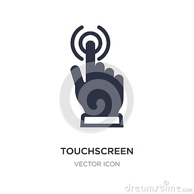 touchscreen icon on white background. Simple element illustration from Technology concept