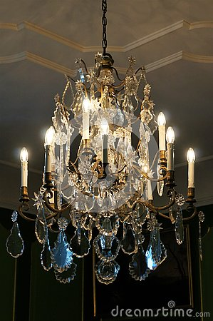 An ancient chandelier