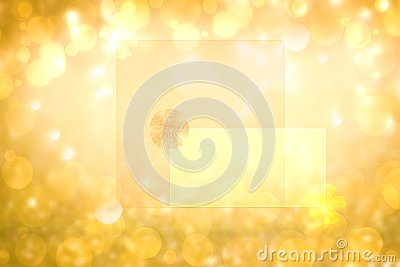 Abstract festive golden glitter background texture with a frame with ribbon bow on transparent letters. Made for valentine,