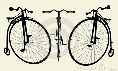 Penny-Farthing Bicycle Vector 02
