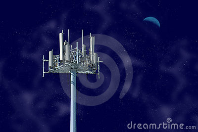 Cell Tower At Night