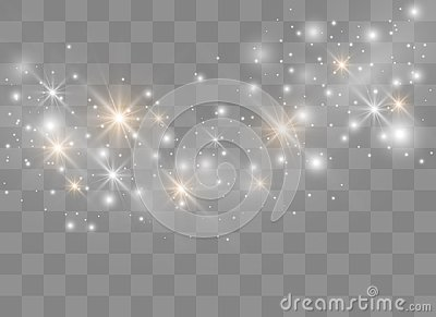 Sparks glitter special light effect. Vector sparkles on transparent background. Christmas abstract pattern. Sparkling magic dust p