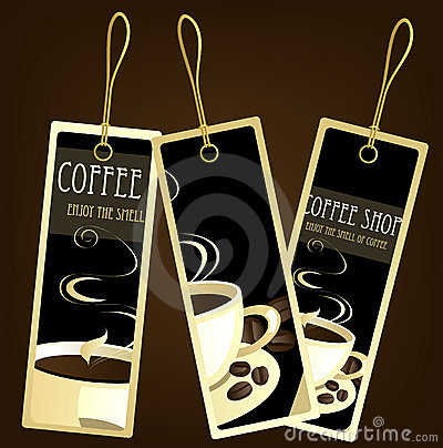 Coffee design tags