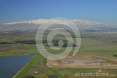 View from Bental mount and hermon mount in the background.