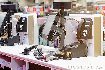 Cash register in the store