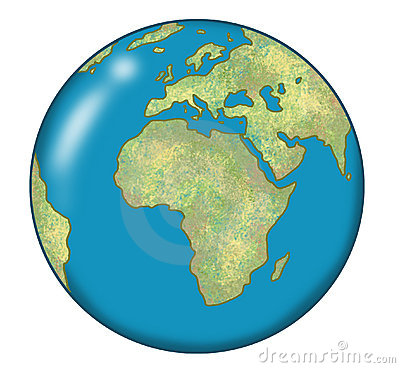 Map - Round world map image
