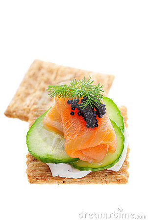 Salmon with Caviar