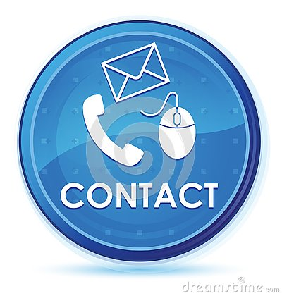 Contact (phone email and mouse icon) midnight blue prime round button