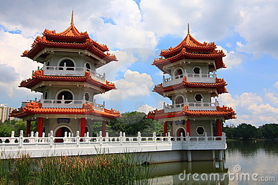 Singapore: Twin Pagodas at Chinese Garden