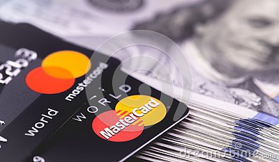 MasterCard with dollars