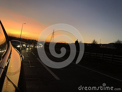 stock image of the best sunsets in folkestone