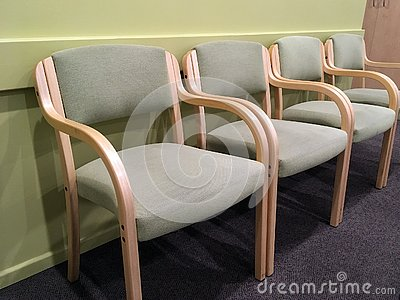 Pale Green Chairs in Waiting Room