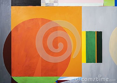 One of a series of geometric abstract paintings; each evolving from the previous painting.  This is number 11 in the series
