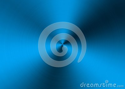 Abstract Blue Radial Brushed Metal Surface for Background