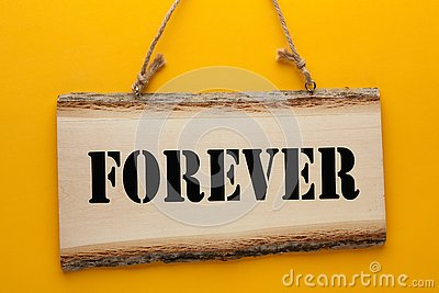 Forever On Wooden Sign