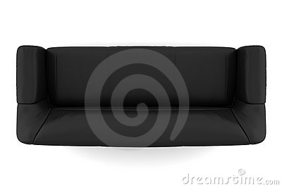 Enjoyable Top View Of Black Leather Sofa Isolated On White Machost Co Dining Chair Design Ideas Machostcouk