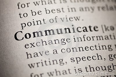 Definition of the word communicate