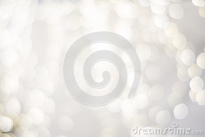 Classy upscale high end, white silver, christmas holiday backdrop blurry lights. festive beautiful