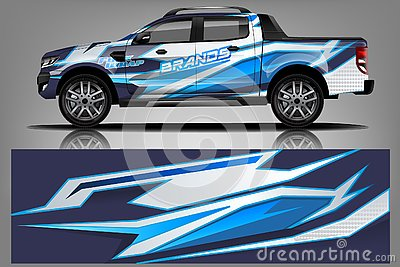 stock image of car decal wrap design vector. graphic abstract stripe racing background kit designs for vehicle, race car, rally, adventure and li