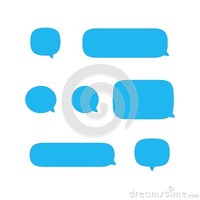 Text speech bubble, message mobile phone vector icon set collection, sms falat design isolated on white background