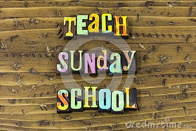 Teach sunday school leadership teacher help typography print