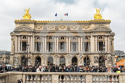 Opera National de Paris, Grand opera or Opera Garnier in Paris, France. Tourists landmark