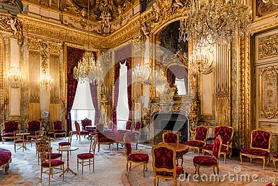 Napoleon III apartments, State Drawing room interior, Louvre museum, Paris France