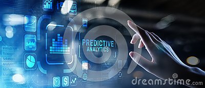 Predictive analytics Big Data analysis Business intelligence internet and modern technology concept on virtual screen.