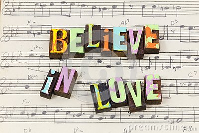 Believe love faith hope belief share caring kindness typography font
