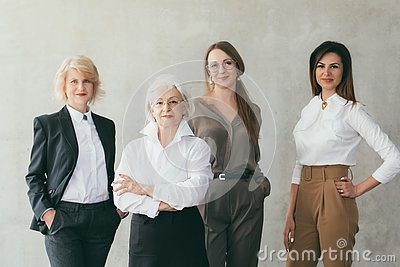 Successful business women educated female leaders