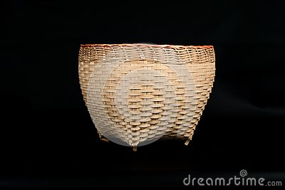 Hand made basket from bamboo wood