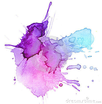 Watercolor blot background