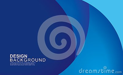 Paper layer circle blue abstract background. Curves and lines use for banner, cover, poster, wallpaper, design with space for text