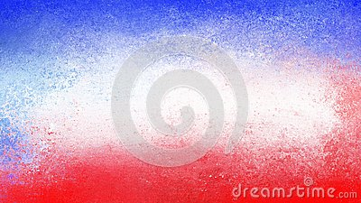Red white and blue grunge texture on July 4th or vintage abstract patriotic holiday background design