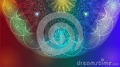 Abstract mandala graphic design. Vector background for yoga, meditation poster. Vector